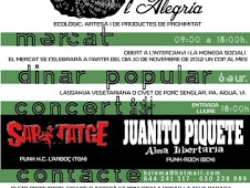 Mercat de l´alegria / Mercado de la alegría: Sábado 24 noviembre de 9 a 18h