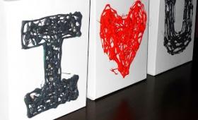 Cuadros-Manualidad San Valentín