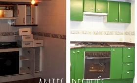 Mi cocina. Antes y después. Argh