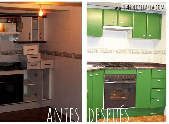 Mi cocina antes y despu s argh yonolotiraria for Esmalte para muebles de cocina