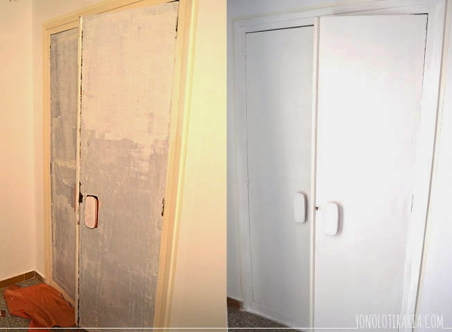 El apartamento 1 el dormitorio el armario empotrado for Reformar puertas