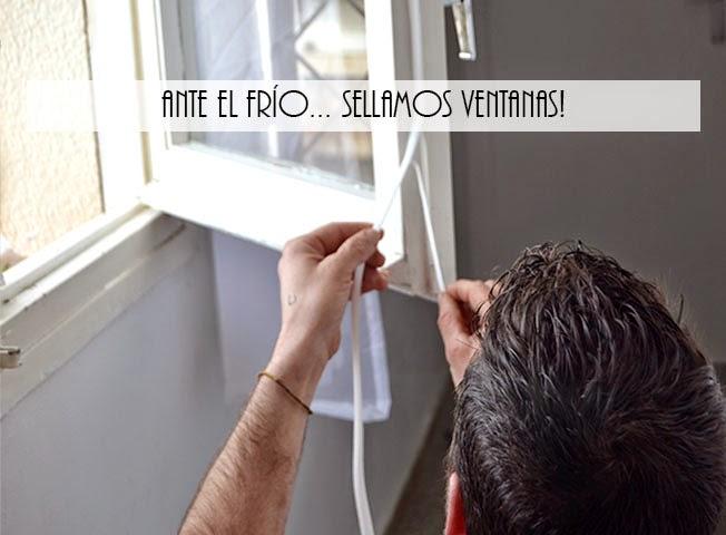 Protegiéndonos del frío sellando ventanas