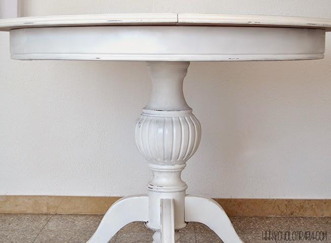 Tunemos la t pica mesa de comedor yonolotiraria - Mesas pintadas a la tiza ...