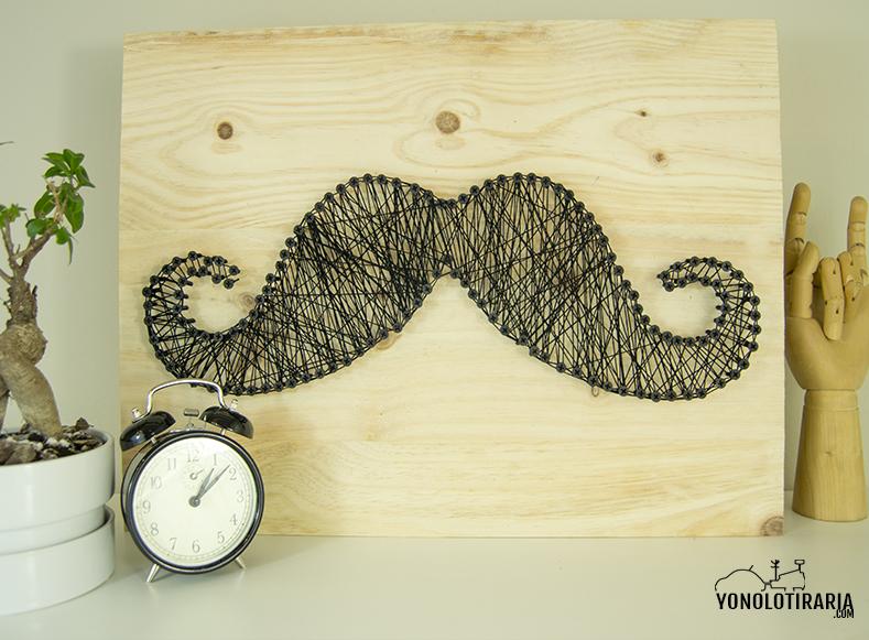 cuadro string art moustache 12
